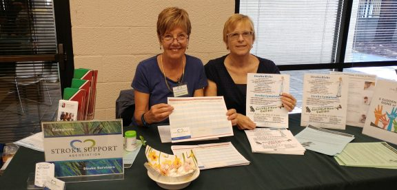 Diana Wagner and Gretchen Phillps represented SSA at the Lakewood Senior Center Health Fair