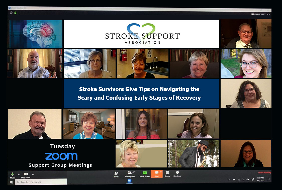 Stroke Support Association support groups via Zoom during COVID pandemic