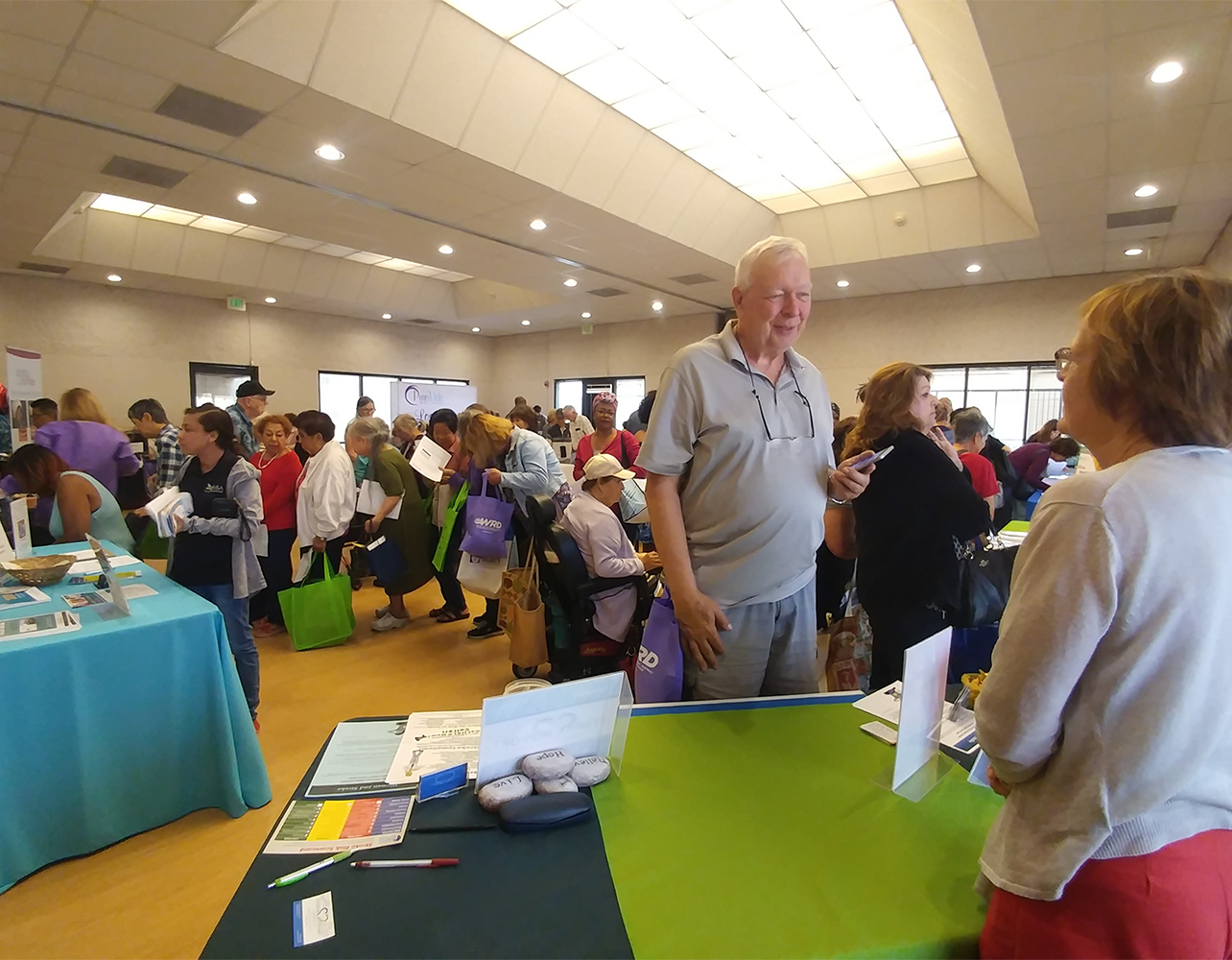 SSA member at senior fair at Lakewood Senior Center
