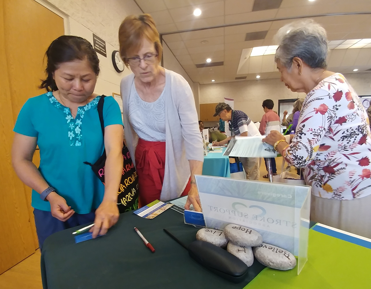 SSA member Diana assists at the Lakewood Senior Center 2019 fair