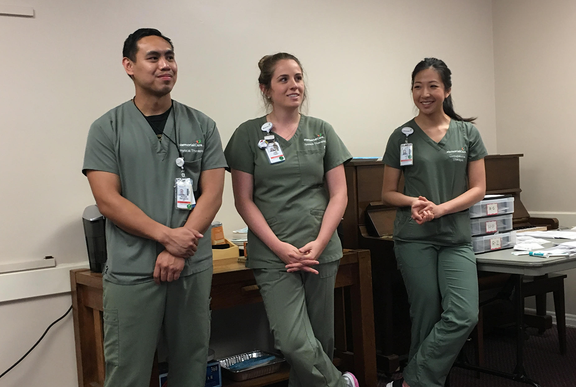 LBMMC Acute-care professionals Jackie, Lydia and Kenneth