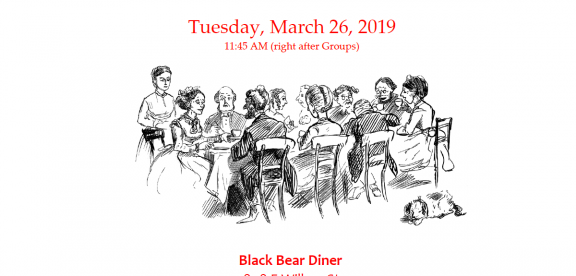 End of session luncheon March 26 at Black Bear Diner